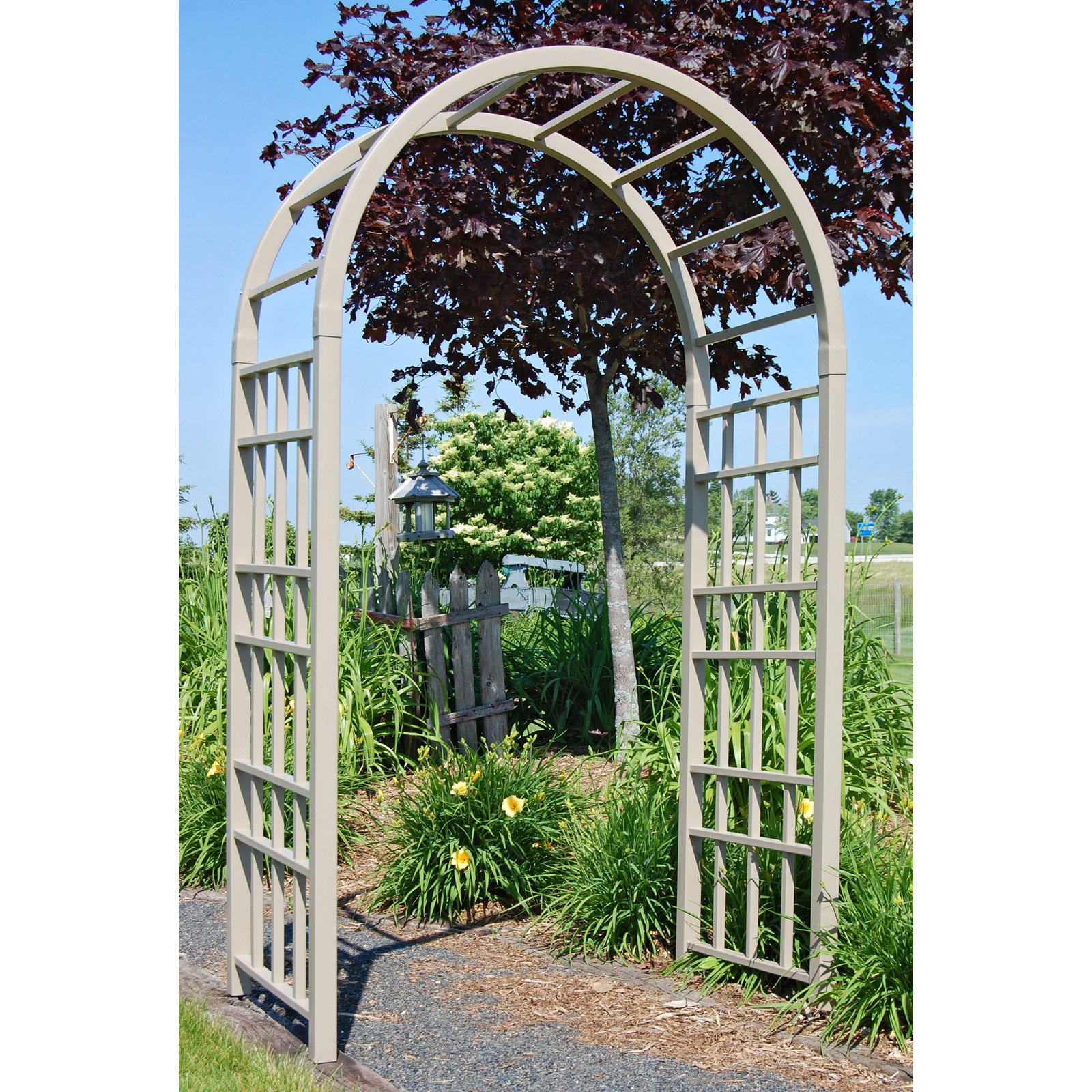Dura-Trel Cottage 7.75-ft. Vinyl Arch Arbor Mocha by Dura-Trel Inc