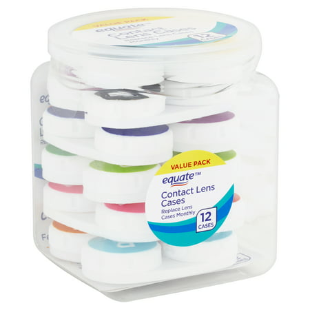 Equate Contact Lens Cases Value Pack, 12 Count