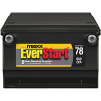 EverStart Maxx Lead Acid Automotive Battery, Group 78s