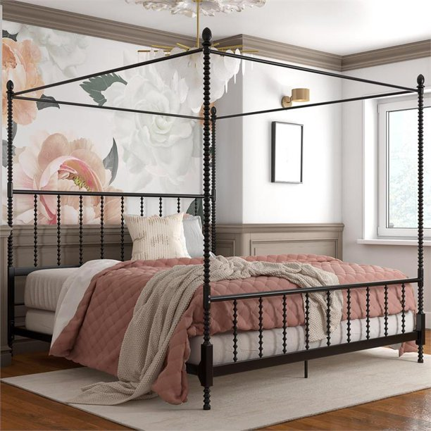 Dhp Emerson Metal Canopy Bed In King, Canopy Bed King Size
