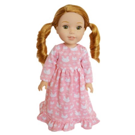 My Brittany's Pink  Star Nightgown For American Girl Dolls Wellie Wishers Dolls - Pink And Blue My Little Pony
