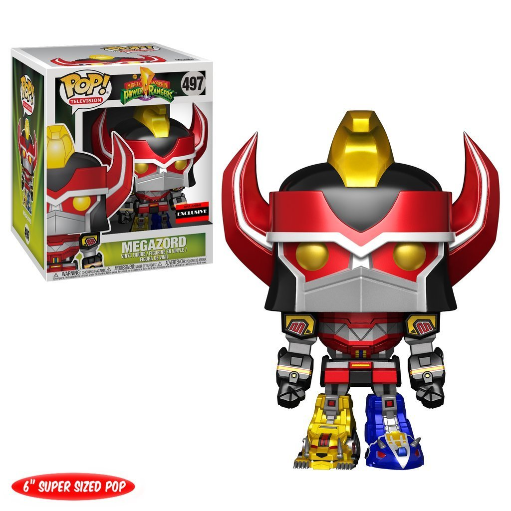 "Funko Power Rangers Metallic Megazord 6"" Pop Vinyl Figure AAA Anime by"