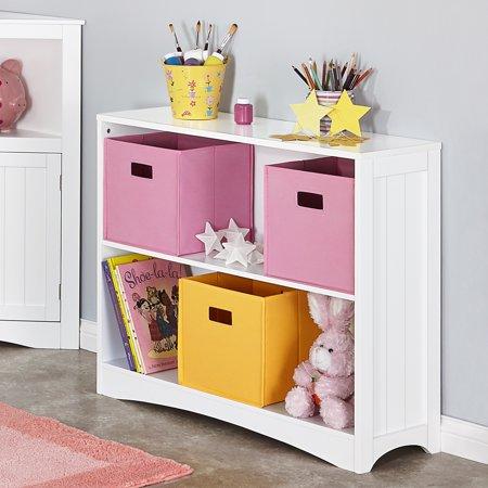 RiverRidge Kids Horizontal Bookshelf 2 Tier Multiple Colors