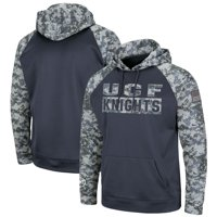 UCF Knights Colosseum Youth OHT Military Appreciation Digi Camo Raglan Pullover Hoodie - Charcoal