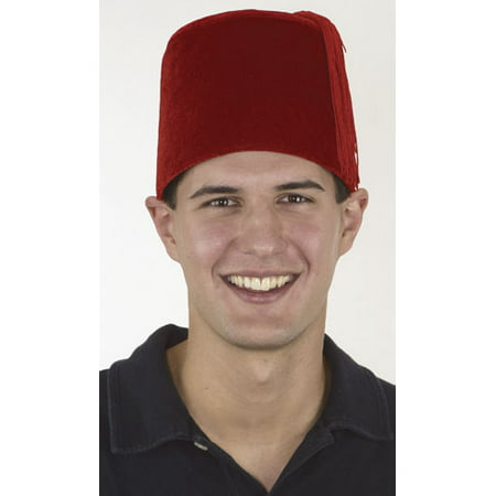 Velvet Fez Hat Costume Turkish Shriner Casablanca Moroccan Cap Costume Accessory