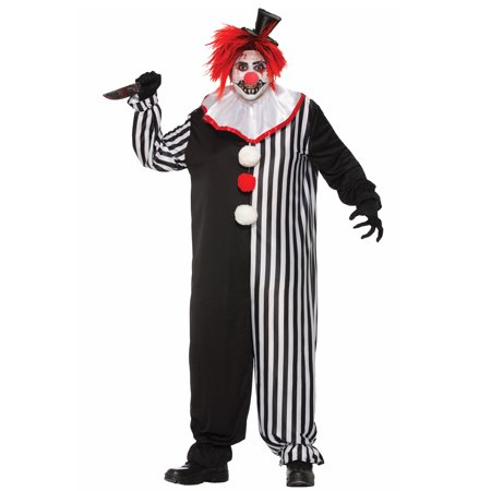 Freaky The Killer Clown Adult Mens Scary Halloween Costume-Xl