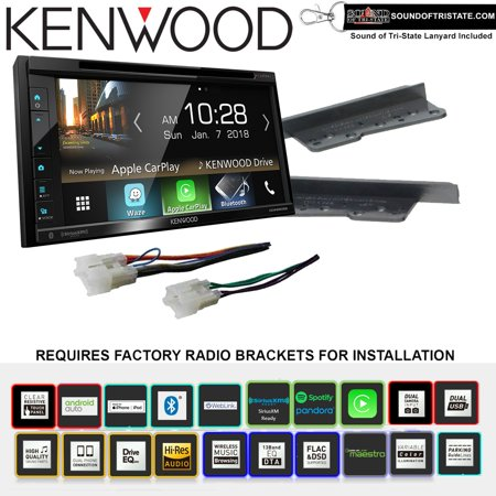 Kenwood eXcelon DDX6905S CD Receiver Install Kit with Bluetooth Fits 2003-2009 Toyota 4Runner, 2000-2005 Toyota Celica, 2000-2005 Toyota MR2 Spyder ()