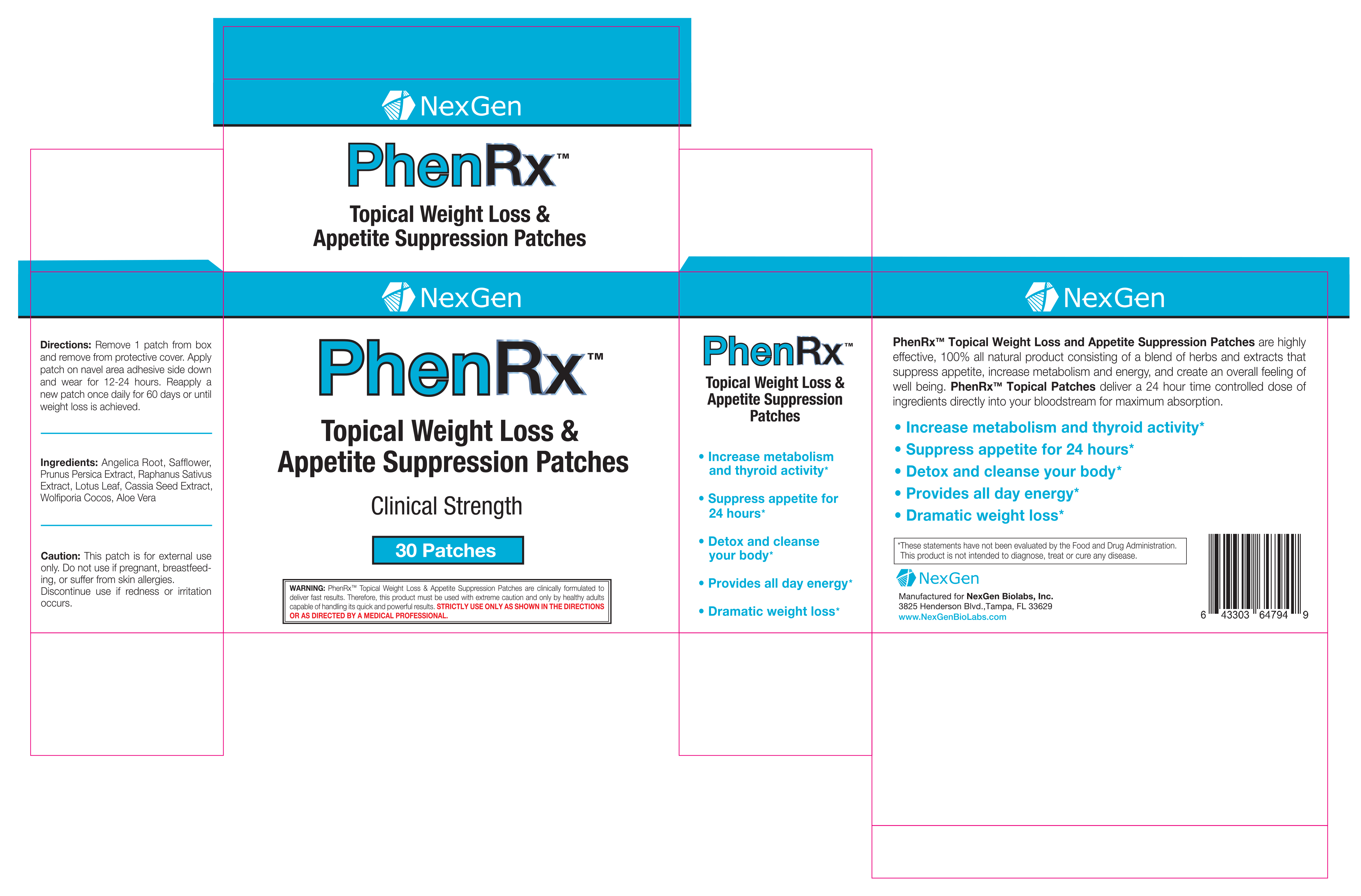 PhenRx Topical Patches - Advanced Formula Diet Patches for weight ...