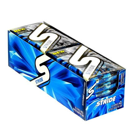 Stride Gum Peppermint 10/14S - Pack of 10 -  Trident