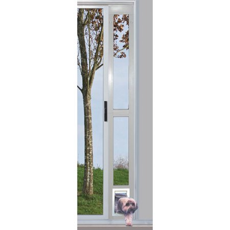 Ideal Modular Aluminum Patio Pet Door White Small For Pets To15 Lbs