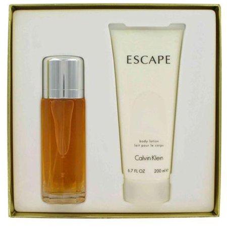 ESCAPE par Calvin Klein 3,4 oz Parfum Spray EDP Femmes + 6,8 Set Lotion