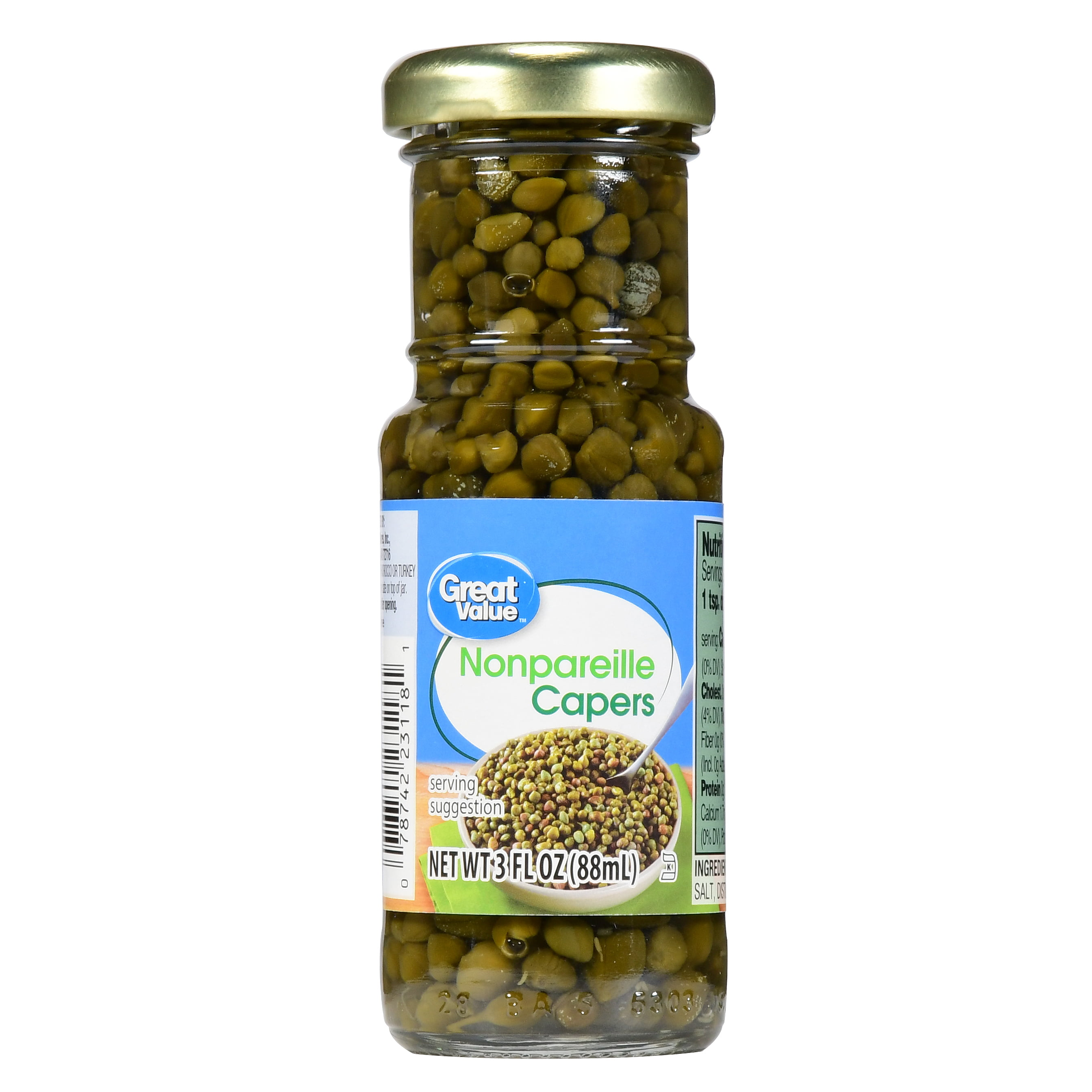 Great Value Nonpareille Capers, 3 fl oz by Wal-Mart Stores, Inc.