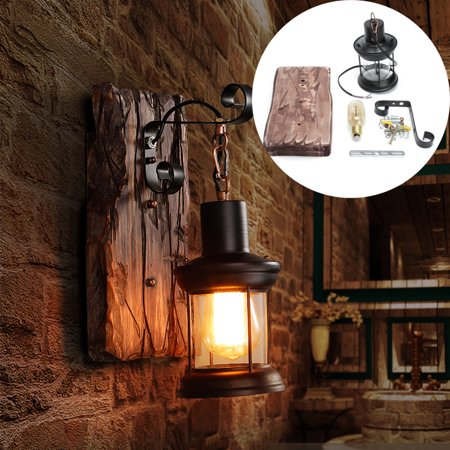 Rustic Metal Candle Metal Glass Wall Sconce Single Head Vintage Wall lamp
