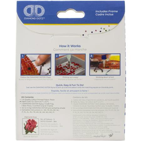 Diamond Dotz Diamond Embroidery Facet Art Kit W/ Frame-Bliss Bud W/ White Frame - image 1 de 1