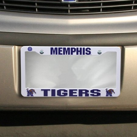"NCAA Memphis Tigers Plastic Plate Frame, 12"" x 6"", Officially licensed NCAA plastic auto tag frame By Rico Industries Ship from US"