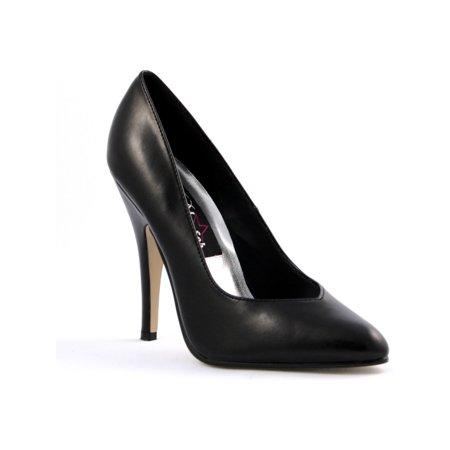 Seduce 5 Inch Womens High Heel Shoes Sexy Black Patent Pump ()