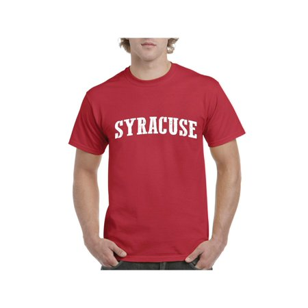 Syracuse Orange Photo - Syracuse New York State Flag Men Shirts T-Shirt Tee