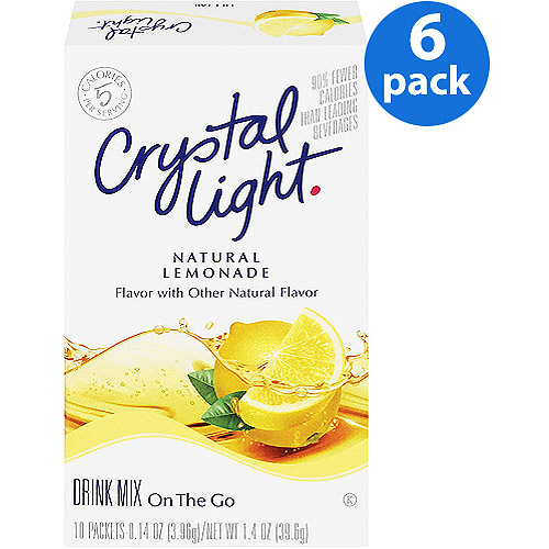 Crystal Light On The Go Lemonade Drink Mix, 10 ct (Pack of 6)