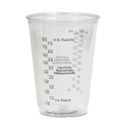 SOLO Cup Company Plastic 10 Oz Medical & Dental Cups, Clear, 5000 count