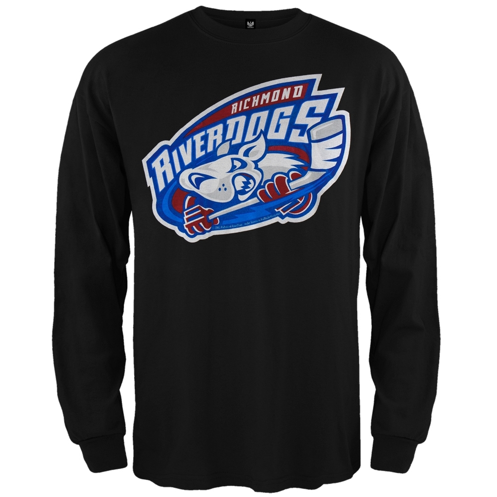 Richmond Riverdogs - Logo Long Sleeve Black T-Shirt