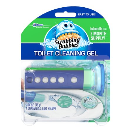 Scrubbing Bubbles Toilet Cleaning Gel Glade Rainshower Ounces