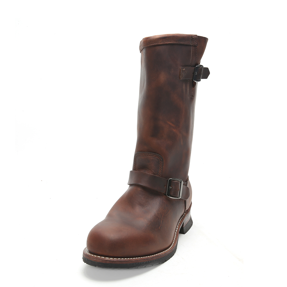 Wolverine Men's Stockton 1000 Mile Engineer Boots W05143 Brown 12
