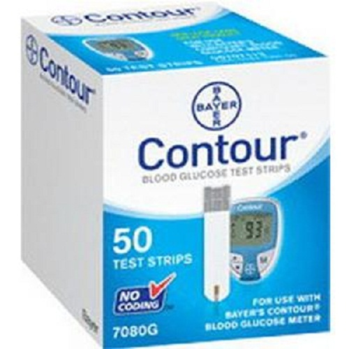 Contour Microfill Blood Glucose Test Strip (50 count)-Box of 50