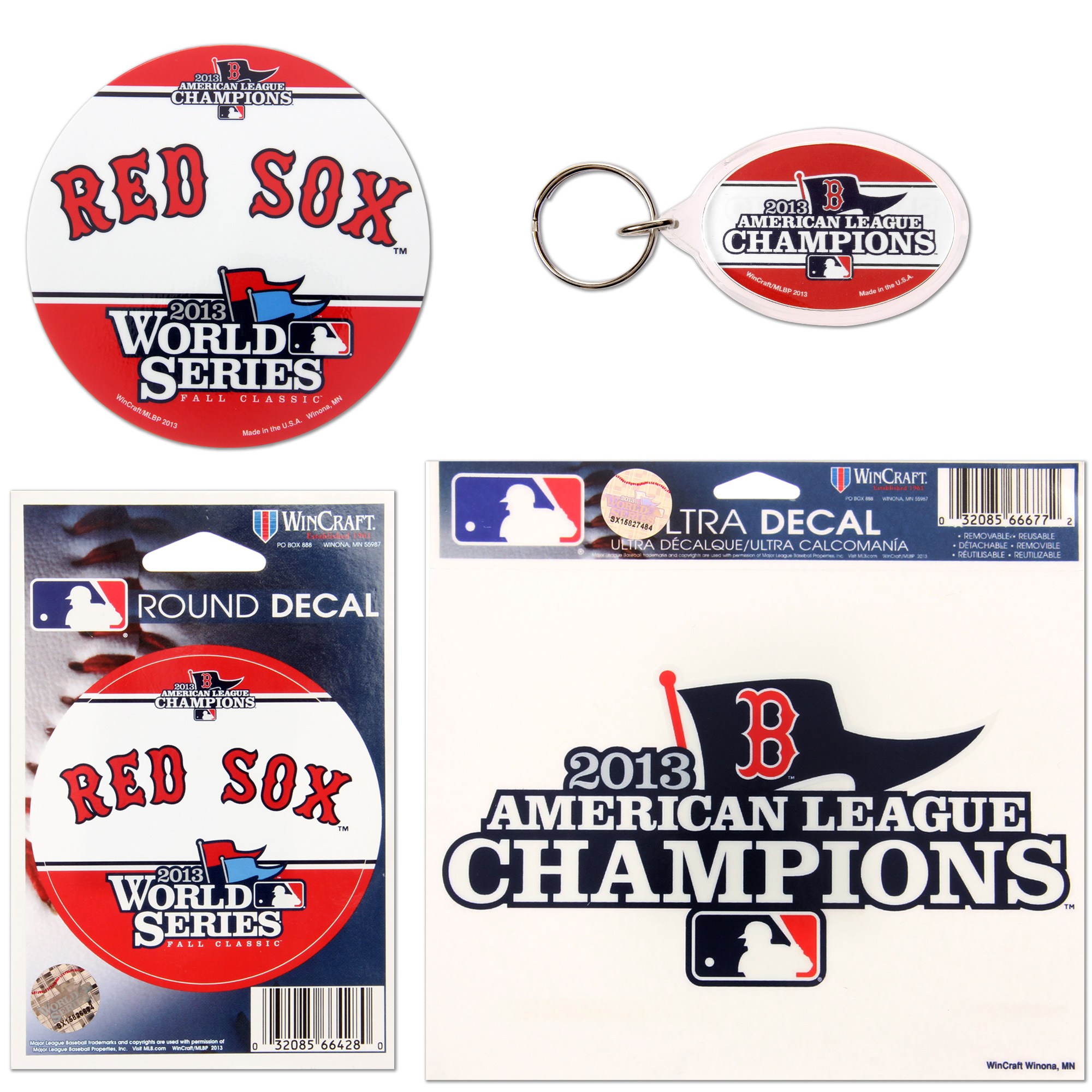 Boston Red Sox WinCraft 2013 American League Champions Collector's Pack - No Size