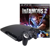 Refurbished PlayStation 3 PS3 320GB inFamous 2 bundle with Matching Controller