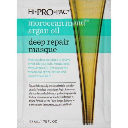 Hi Pro Pac Hair Mask, Moroccan Mend Argan Oil Deep Repair Hair Masque, 1.75