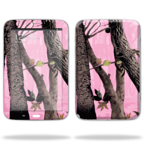 "Mightyskins Protective Skin Decal Cover for Samsung Galaxy Note 8.0 Tablet with 8"" screen wrap sticker skins Pink Tree Camo"