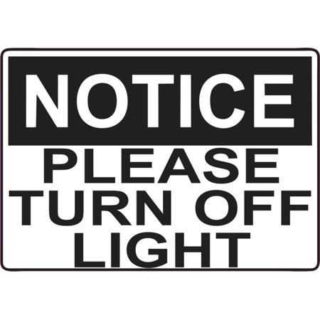 5in x 3.5in Please Turn Off Light Magnet Vinyl Magnetic
