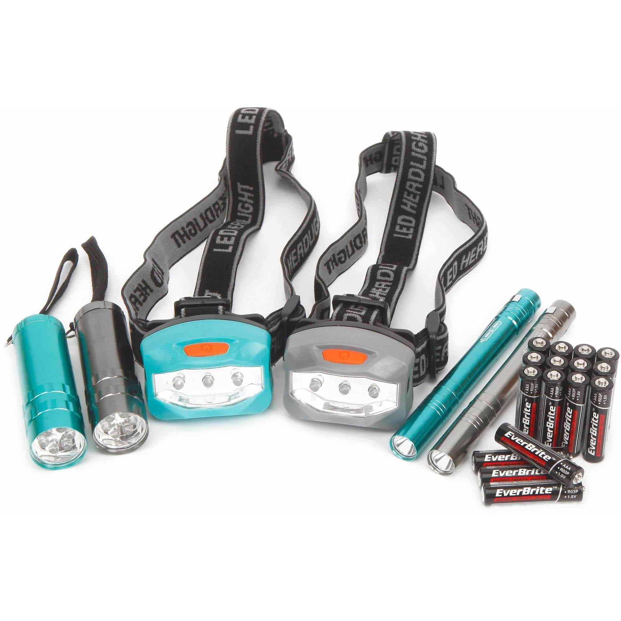 Click here to buy Ozark Trail 6-Piece Led Flashlight and Penlight and Headlamp Combo by Wal-Mart Stores, Inc..