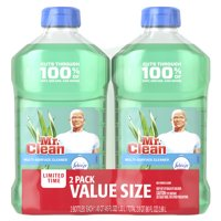 Mr. Clean Multi-Surface Cleaner with Febreze Meadows and Rain, 2 Pk, total 90 Fl Oz