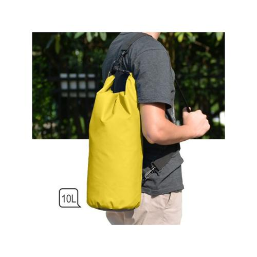 Waterproof Floating Water Resistant Dry Bag for Swimming Boating Camping Biking Yellow Nylon 10L by