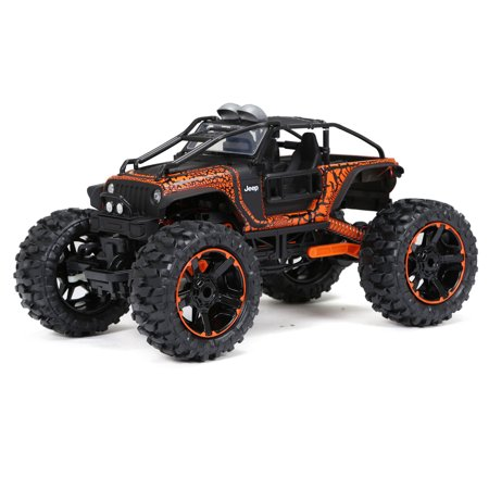 New Bright 4x4 1:10 Scale Remote Control Truck Jeep Rock Crawler 2.4GHz 9.6V, Orange