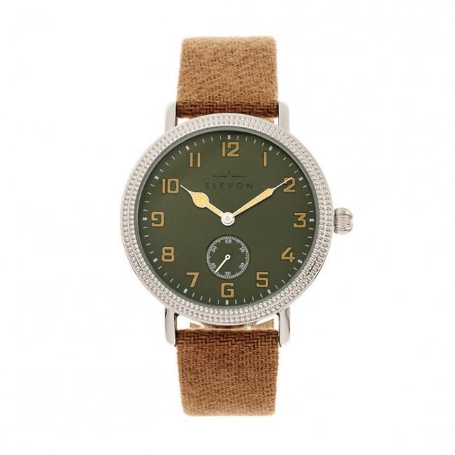 Elevon ELE110-4 42 mm Northrop Leather-Band Watch - Tan & Black - image 1 de 1