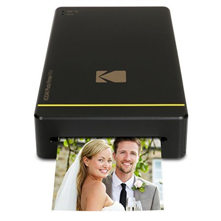 Kodak Mini Mobile Wi Fi   Nfc 2 1 X 3 4   Photo Printer With Advanced Patent Dye Sublimation Printing Technology   Photo Preservation Overcoat Layer  Black  Compatible With Android   Ios