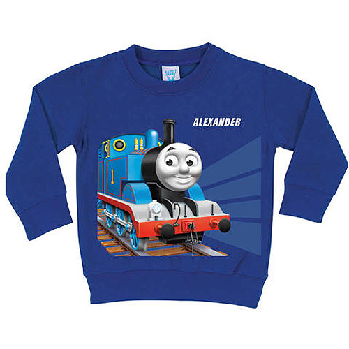 Personalized Thomas & Friends Tracks Blue Toddler Boy Long Sleeve Tee