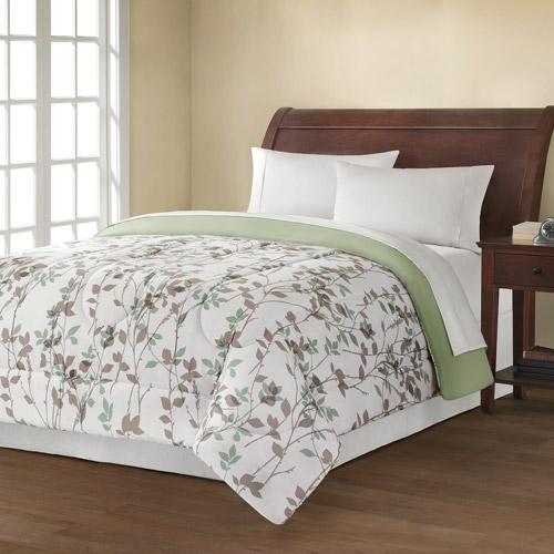 Mainstays Reversible Comforter Collection Leaf Vine