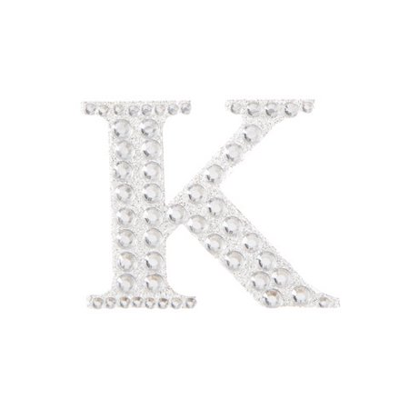 Transform a store-bought item into a personalized gift with this silver K bling sticker. Its 1-inch size is great for decorating glassware and