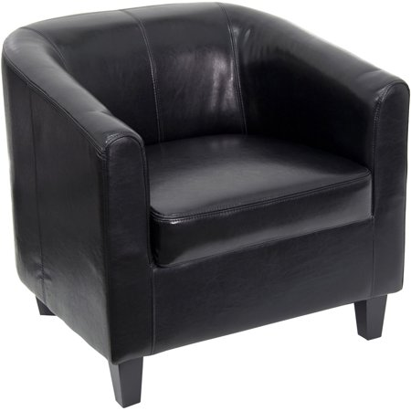 Leather Office Side Chair With Arms Black Or Brown Walmartcom