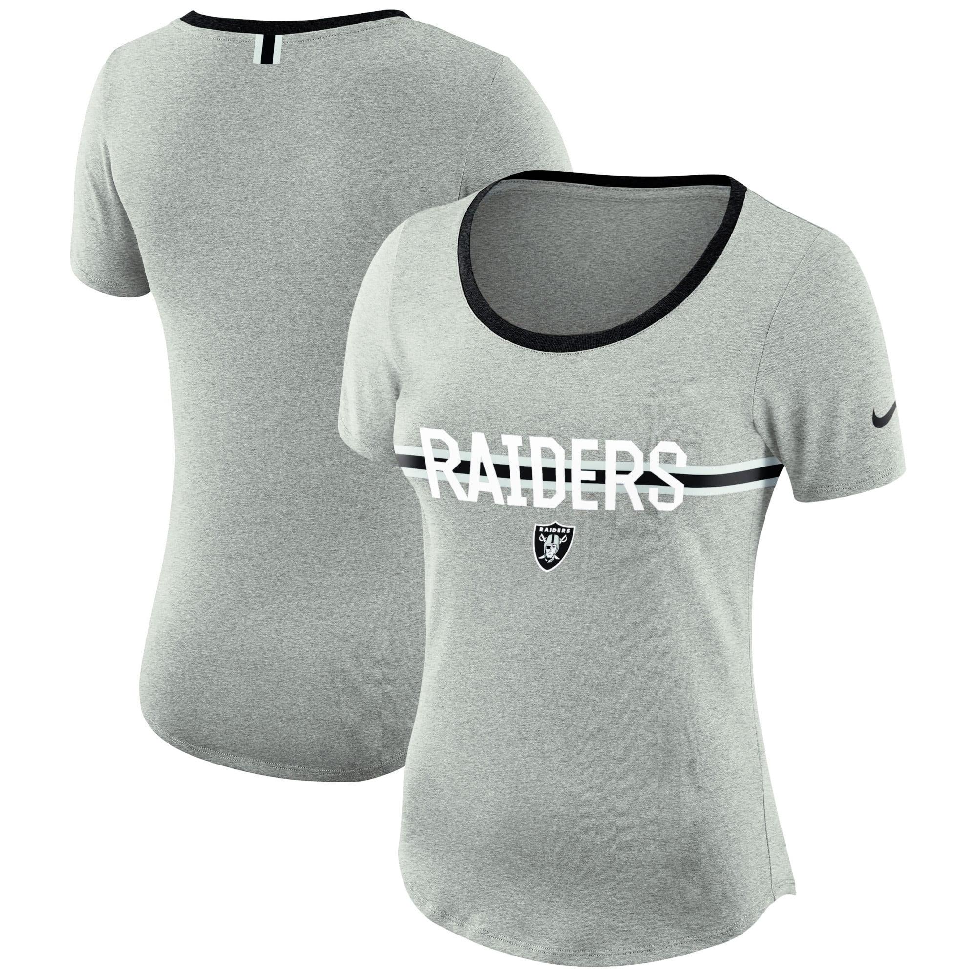 Oakland Raiders Nike Women's Strike Slub T-Shirt - Heathered Gray