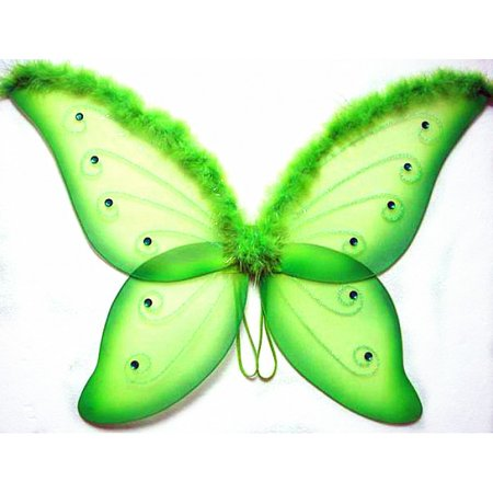 Adult Green Jeweled Fairy Butterfly Wings