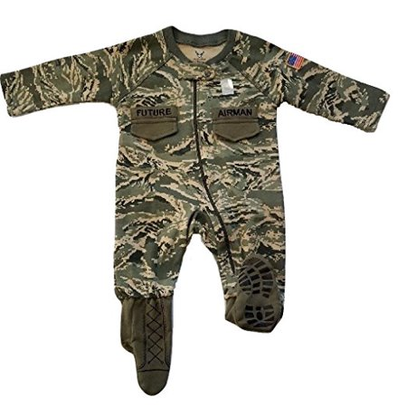 Baby Air Freshener Costume (U.S. Air Force Baby Boys ABU Camo Crawler with Recruit Boots)