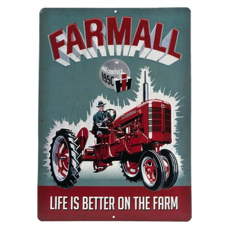 Farmall Life Is Better Embossed Metal Sign