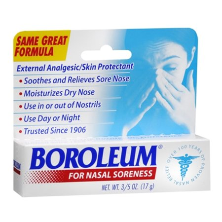 Boroleum Analgesic Ointment Relieves Sore Nose, 0.60 oz, 2 Pack