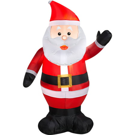Gemmy Airblown Christmas Inflatables Waving Santa, 4'