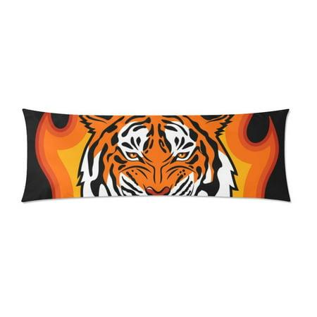 YUSDECOR Tiger Head Body Pillow Pillowcase Pillow Protector Cushion Cover 20x60 Inch - image 1 de 2