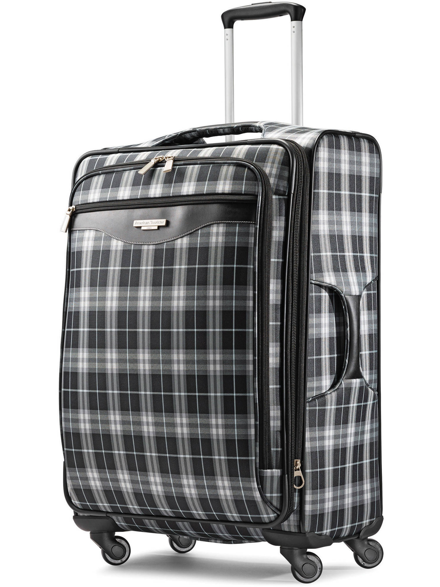"American Tourister 28"" Plaid Fashion Softside Spinner Luggage"
